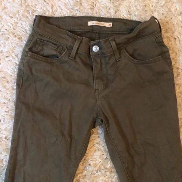 Levi's Denim - ❤️Levi's Skinny Army Green Jeans (Size 26)